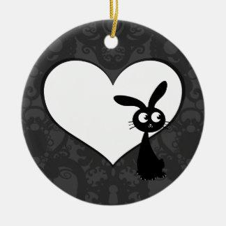 Kuro Bunny Love I Ornaments