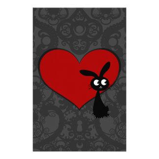 Kuro Bunny Love II Stationery Design