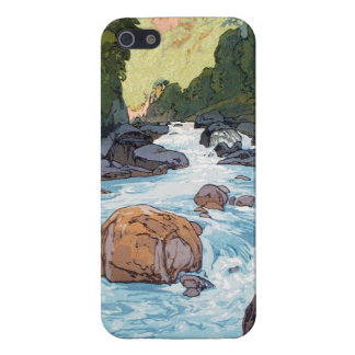 Kurobe River by Hiroshi Yoshida shin hanga art iPhone SE/5/5s Case