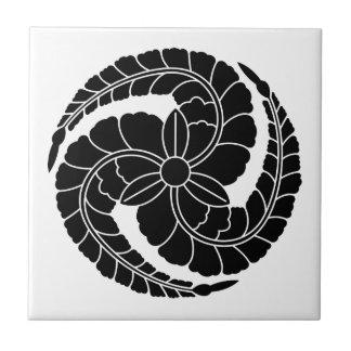 Kuroda rattan 巴 small square tile