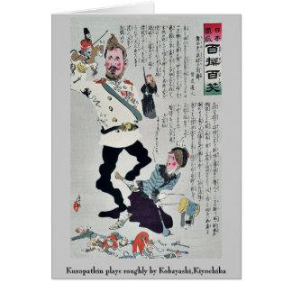 Kuropatkin juega áspero por Kobayashi, Kiyochika Tarjeta Pequeña