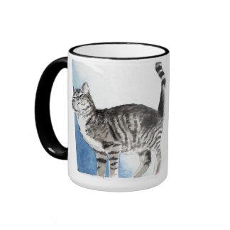 kurrande katt kaffe mugg