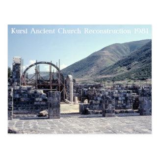 Kursi Ancient Church Reconstruction Postcard
