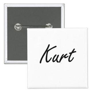 Kurt Artistic Name Design 2 Inch Square Button