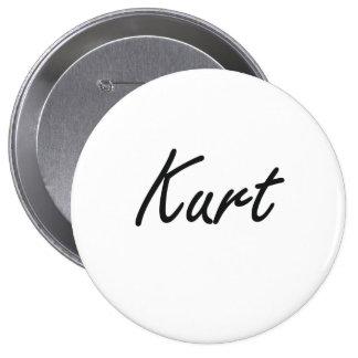 Kurt Artistic Name Design 4 Inch Round Button