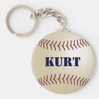 Kurt Baseball Keychain by 369MyName
