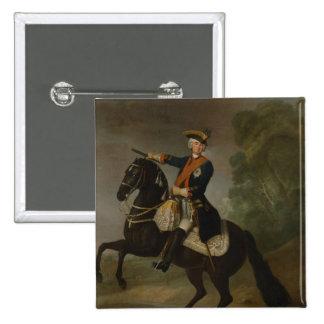 Kurt Christoph Graf von Schwerin on horseback 2 Inch Square Button