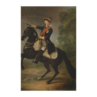 Kurt Christoph Graf von Schwerin on horseback Canvas Print