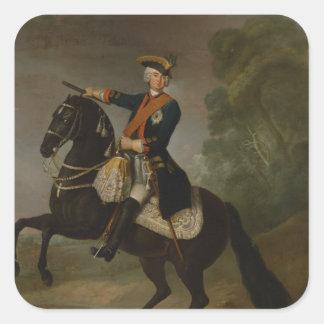 Kurt Christoph Graf von Schwerin on horseback Square Sticker