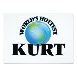 """Kurt más caliente del mundo invitación 5"""" x 7"""""""