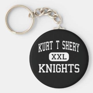 Kurt T Shery - Knights - Continuation - Torrance Basic Round Button Keychain