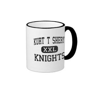 Kurt T Shery - Knights - Continuation - Torrance Ringer Coffee Mug