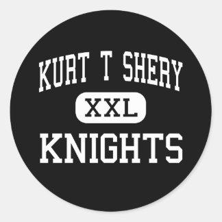 Kurt T Shery - Knights - Continuation - Torrance Classic Round Sticker