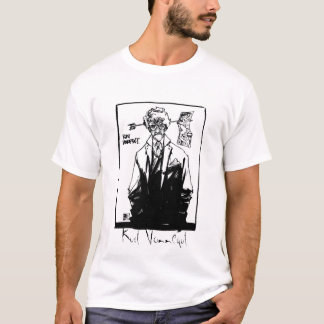Kurt Vonnegut blanco y negro Playera