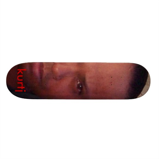 kurtj's customized skateboard