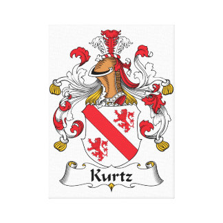 Kurtz Family Crest Canvas Print