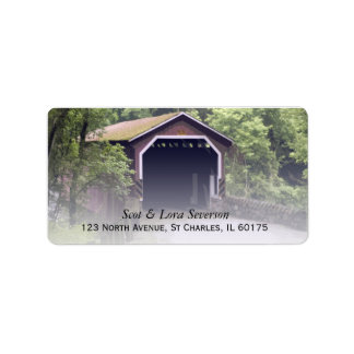 Kurtz Mill Covered Bridge Return Address Labels