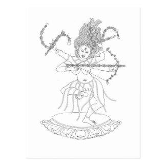 Kurukulla Line Drawing [postcard]