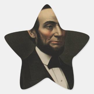 [Kurz & Allison portrait of Abraham Lincoln Star Sticker