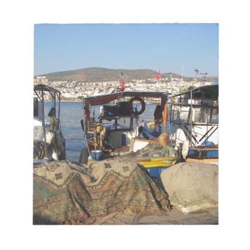 Kusadasi Fishing Harbor Memo Pads