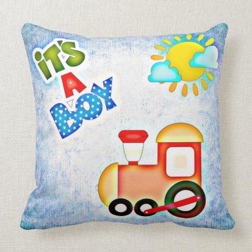 Throw Pillows Lagos : Kuschelkissen - It s A Boy Throw Pillow Zazzle