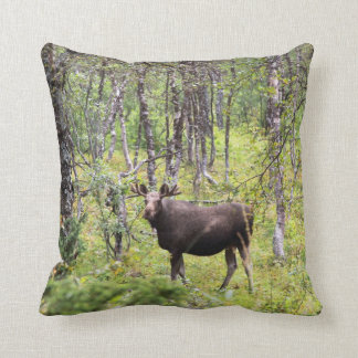 Kuschelkissen with moose throw pillow