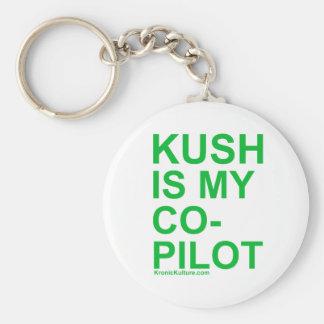 KushIsMyCoPilot Basic Round Button Keychain