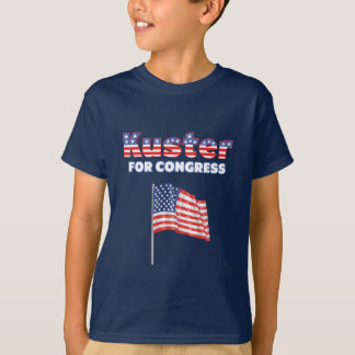 Kuster for Congress Patriotic American Flag T-Shirt