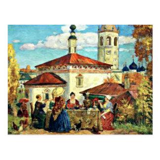 Kustodiev - en el Suzdal viejo