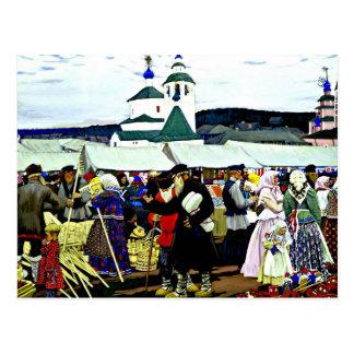 Kustodiev - en la feria postal