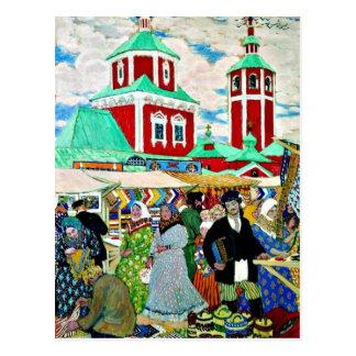 Kustodiev - en la feria postales