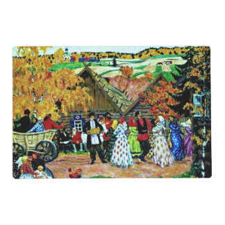 Kustodiev - Village Holiday Placemat