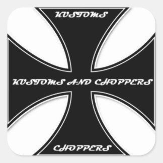 Kustoms and Choppers Magazine Cross Sticker