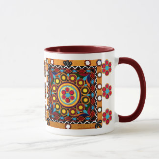 Kutch Embroidery-Ceramic, Global Art Coffee Mug