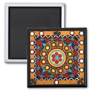 Kutch Embroidery-Colorful Exotic Global Art Magnet
