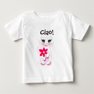 Kute Kitty with Pink Flower Ciao Creeper
