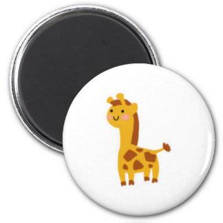 Kutie Giraffe 2 Inch Round Magnet