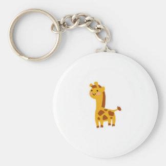 Kutie Giraffe Basic Round Button Keychain