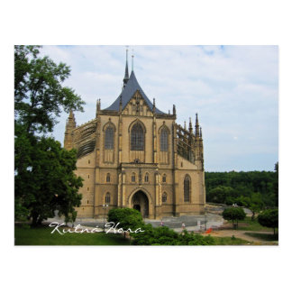 Kutná Hora Saint Barbara Church Postcard