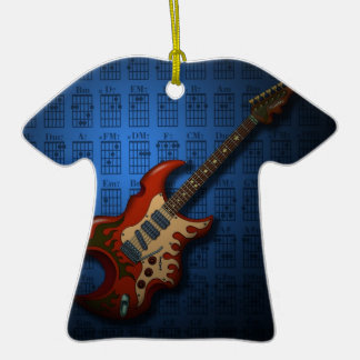 KuuMa Guitar 01 (B) Double-Sided T-Shirt Ceramic Christmas Ornament