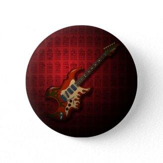 KuuMa Guitar 01 (R) Pinback Button