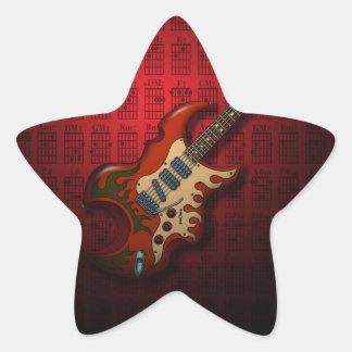 KuuMa Guitar 01 (R) Star Sticker