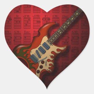 KuuMa Guitar 01 (R) Stickers