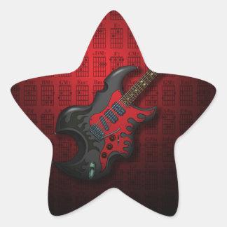 KuuMa Guitar 03 (R) Star Sticker