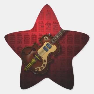 KuuMa Guitar 06 (R) Star Sticker