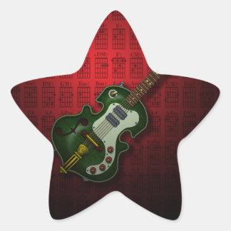 KuuMa Guitar 07 (R) Star Sticker