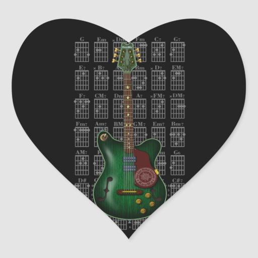 KuuMa Guitar 09 Heart Sticker