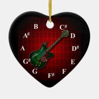 KuuMa Guitar Clock Ceramic Ornament