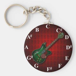 KuuMa Guitar Clock Keychains