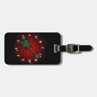 KuuMa Guitar Clock Luggage Tags